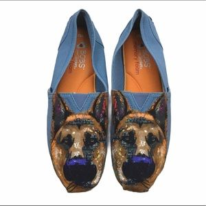 Bobs From Sketchers Slip On Flats Dog Print Shoes